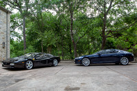 2010 Aston Martin Rapide and 1994 Ferrari 512TR